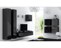 Obývacia izba Vigo - čierna / čierny lesk