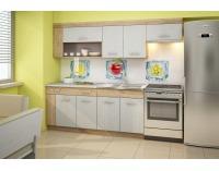 Kuchyňa Viza Plus - craft zlatý / craft biely