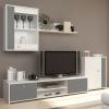 Obývacia stena Genta - biela / sivá