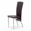 Jedálenská stolička Fina - tmavohnedá / chróm