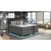 Čalúnená manželská posteľ s úložným priestorom Avellino 140 - sivá (Sawana 05)