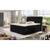 Čalúnená manželská posteľ s úložným priestorom Beneto 180 - čierna (Kronos 07)