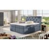 Čalúnená manželská posteľ s úložným priestorom Beneto 180 - modrá