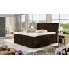 Čalúnená manželská posteľ s úložným priestorom Beneto 180 - tmavohnedá