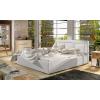 Čalúnená manželská posteľ s roštom Branco 180 - biela