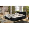 Čalúnená manželská posteľ s roštom Branco 180 - čierna