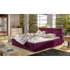 Čalúnená manželská posteľ s roštom Branco 180 - vínová