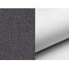 Rozkladacia pohovka s úložným priestorom Aosta - sivá (Sawana 05) / biela (Soft 17)