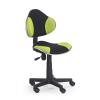 Detská stolička na kolieskach Flash - čierna / zelená