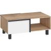 Konferenčný stolík Lars LAR-03 - sonoma svetlá / biela