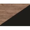 Lavica do kuchyne Bond BON-01 - craft tobaco / čierna ekokoža