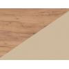 Lavica do kuchyne Bond BON-01 - craft zlatý / béžová ekokoža