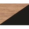 Lavica do kuchyne Bond BON-01 - craft zlatý / čierna ekokoža