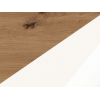 Konferenčný stolík Omega - dub artisan / biely lesk