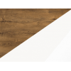 Konferenčný stolík Omega - dub burgundský / biely lesk