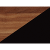 Lavica do kuchyne Bond BON-01 - slivka wallis / čierna ekokoža