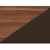 Lavica do kuchyne Bond BON-01 - slivka wallis / hnedá ekokoža