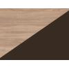 Lavica do kuchyne Bond BON-01 - sonoma svetlá / hnedá ekokoža