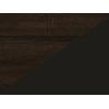 Lavica do kuchyne Bond BON-01 - sonoma tmavá / čierna ekokoža
