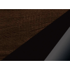 Šatníková skriňa Magic MAG-05 2D - sonoma tmavá / čierny lesk