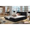 Čalúnená manželská posteľ s roštom Rovigo 140 - čierna