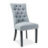 Jedálenská stolička Aleksander - sivá / čierna