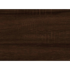 Šatníková skriňa Skrina 2D-2S - sonoma tmavá
